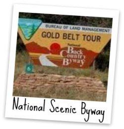 Gold Belt Tour Sign