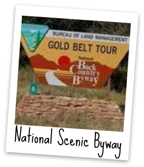 Gold Belt Tour Sign